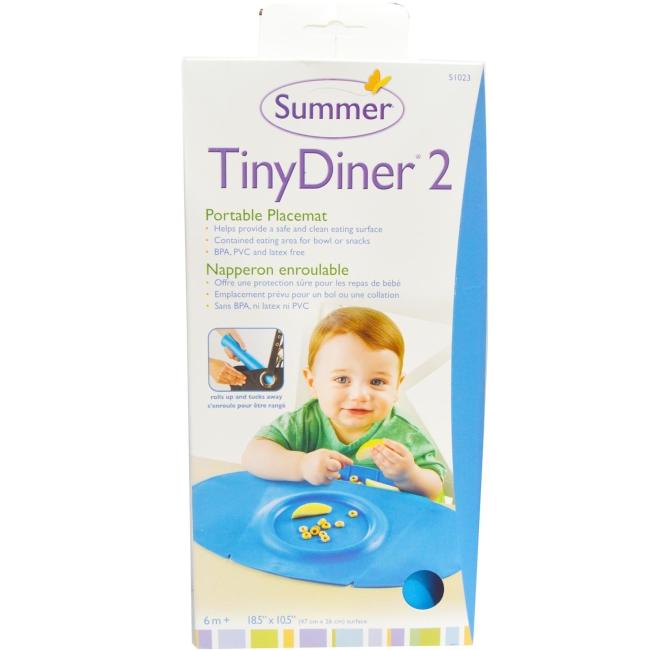 美國 Summer Infant 防水學習餐墊 Tiny Diner 2 第二代新款 藍色 *夏日微風*