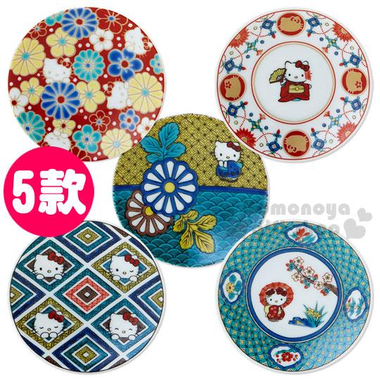 〔小禮堂〕Hello Kitty 日製陶瓷盤《小.5款選1》精緻九谷燒.葉朗彩彩