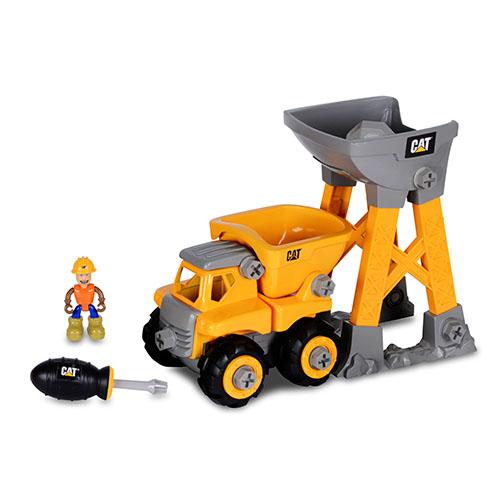 【限量優惠】可自己組裝的 CAT 6吋工程站機具組-砂石車 -> FB 姚小鳳