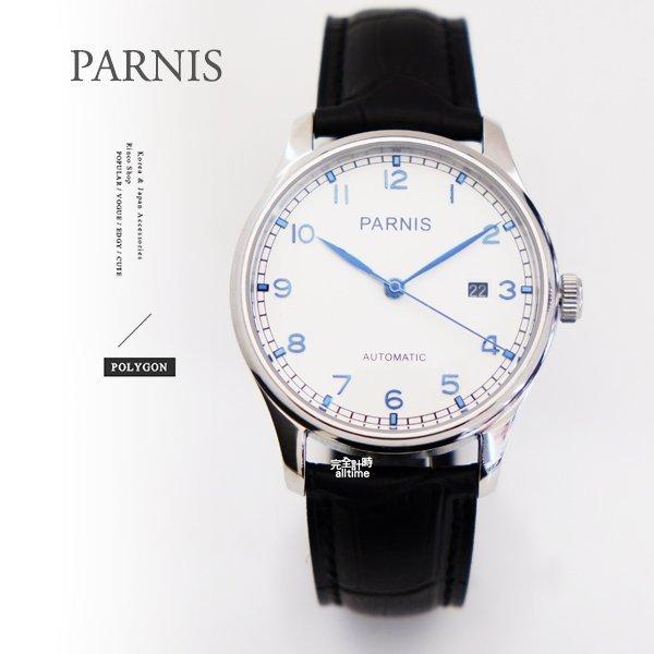 【完全計時】手錶館│PARNIS 瑞典軍錶風 動力儲存自動機械錶 PA3028底蓋鏤空