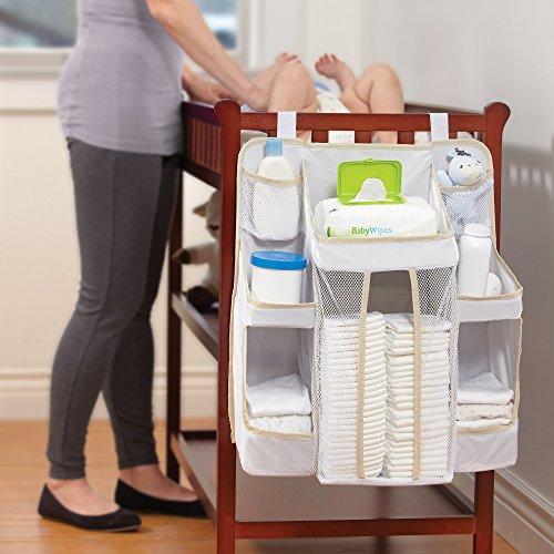 美國 DEX dexbaby Nursery Organizer 尿布收納袋 尿布置物袋 白色 *夏日微風*
