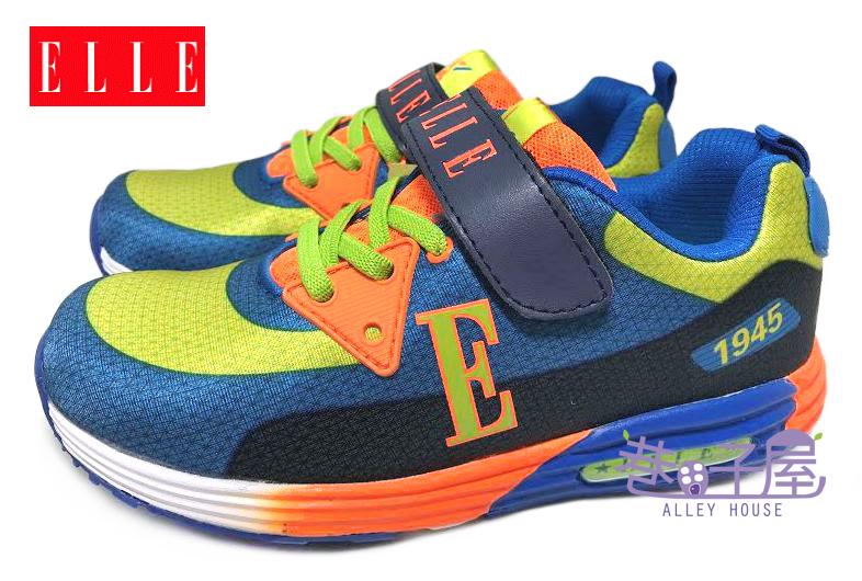【巷子屋】ELLE 男童繽紛輕量康特杯運動慢跑鞋 [52146] 籃綠 超值價$398