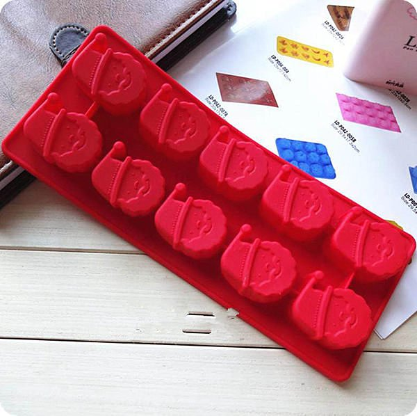 =優生活=創意製冰模具 聖誕老公公製冰盒 巧克力模型 冰塊DIY模具
