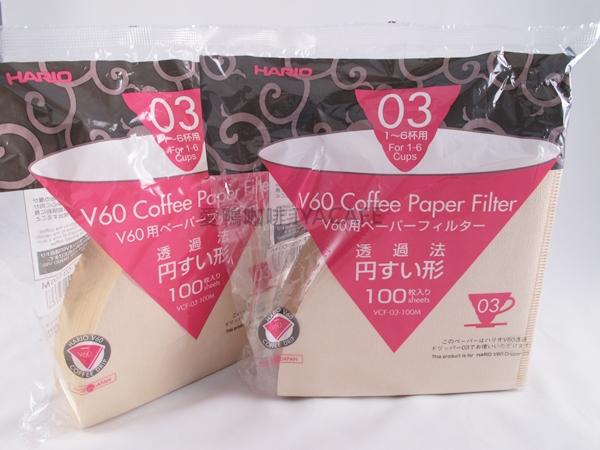 《愛鴨咖啡》Hario VCF-03-100M 無漂白 咖啡 濾紙 4-7杯用 100枚/包
