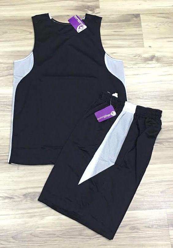 【巷子屋】FEARLESS 男款專業吸濕快乾雙面籃球球衣 比賽服 運動服 [FM05] 黑白 MIT台灣製造 超值價$238