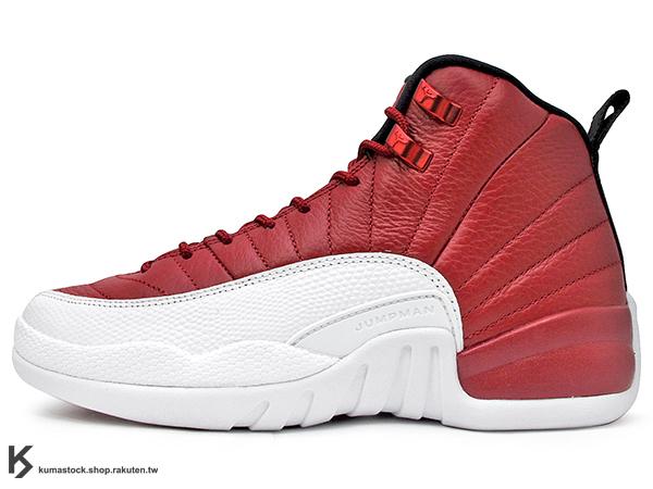 2016 經典再復刻 創新配色 NIKE AIR JORDAN 12 XII RETRO BG GS GYM RED 大童鞋 女鞋 紅白 皮革 AJ BULLS (153265-600) !