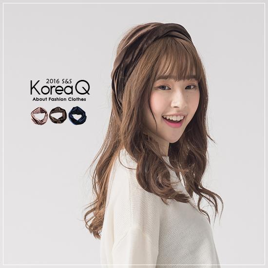 髮帶 復古絨質交叉髮帶(預+現) Korea Q【16120050】