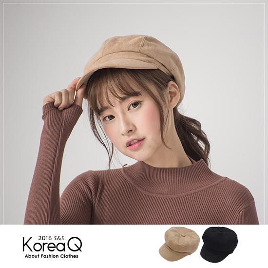 畫家帽 復古麂皮報童畫家帽(預+現) Korea Q【16120052】