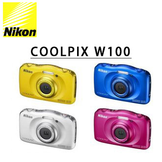 ★分期零利率★   送16G高速記憶卡+清潔組    Nikon W100 防水潛水數位相機  國祥公司貨
