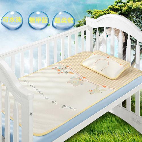 【親親寶貝】頂級精品3D蜂巢天然冰絲嬰兒床涼蓆/嬰兒床墊涼席/冰涼墊_夏天給寶寶最好的呵護(附專利定型枕頭)