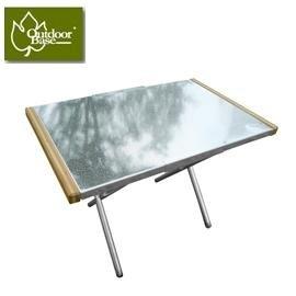 [ Outdoorbase ] 小金鋼不鏽鋼折合桌 / 摺疊桌 / 野餐桌 / 行動泡茶桌 / 燒烤小邊桌 / 收納桌 / 25513