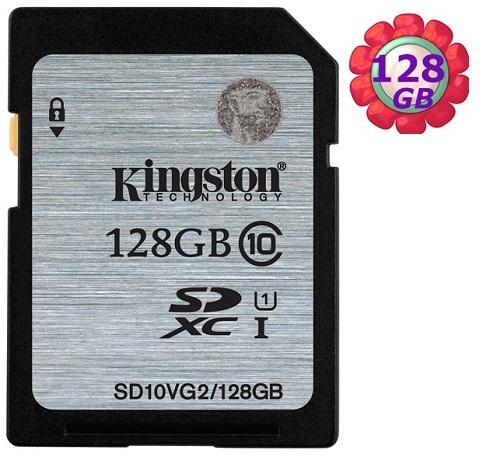 KINGSTON 128GB 128G 金士頓 SDXC【SD10VG2/128G】SD 45MB/s UHS-I UHS U1 原廠終保 相機記憶卡 記憶卡