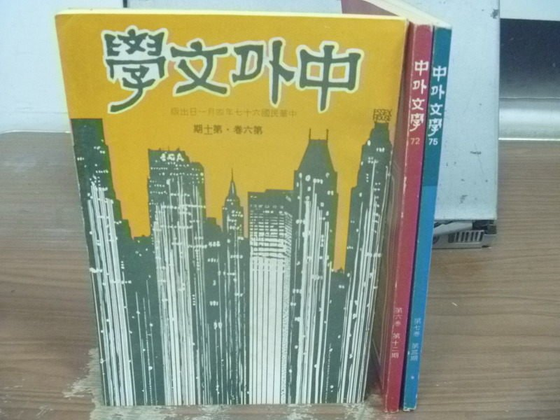 【書寶二手書T4/文學_IAT】中外文學_71~75期間_共3本合售_孟浩然與孟郊的詠僧佛師等