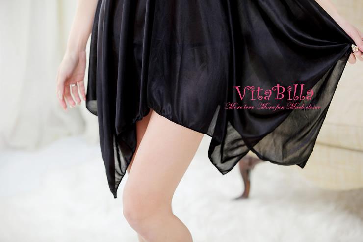 VitaBilla 夜半私語 睡裙+小褲 二件組
