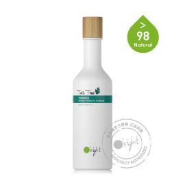 歐萊德 O'right 茶樹洗髮精 250ml「100%再生塑膠瓶 四倍減碳更環保」
