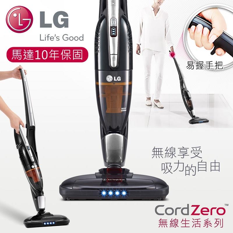 【LG樂金】手持/直立二合一無線吸塵器/質感銀(VS8400SCW)