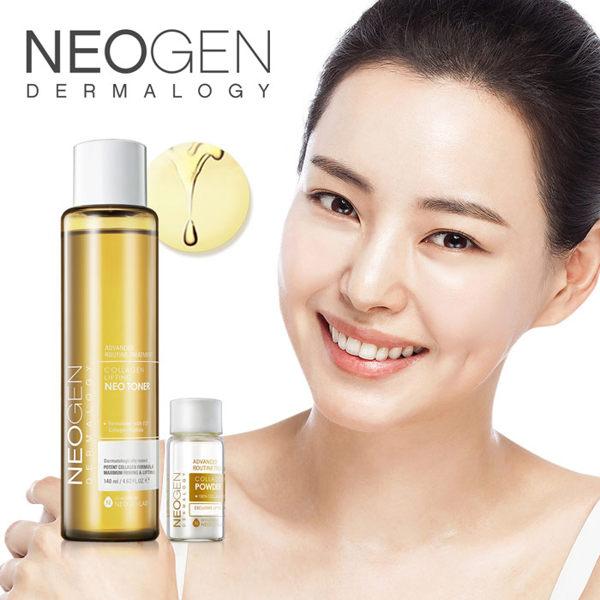 素晴館 韓國 NEOGEN DERMALOGY 高濃度膠原雙劑型潤澤化妝水(140ml)