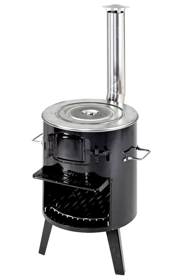 【露營趣】中和 Captain Stag 鹿牌 UG-11 鄉村柴火爐 燒柴爐 烤肉架 荷蘭過爐 荷蘭鍋架 暖爐 取暖器 類黑皮豬