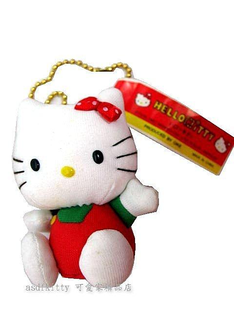 asdfkitty可愛家☆瑕疵賠錢出清特價 KITTY 涼布娃娃 皮包吊飾 / 鑰匙圈1997年正版絕版商品