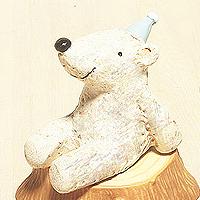 日本仰望天空方巾小動物擺飾-北極熊