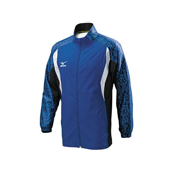 合身版昇華印刷 平織運動套裝外套 32TC608116(寶藍X深藍)【美津濃MIZUNO】