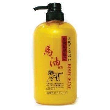 【JUN-COSMETIC】日本原裝 馬油沐浴乳 600ml / 純藥株式會社 天然保濕 修復 無色素 弱酸性