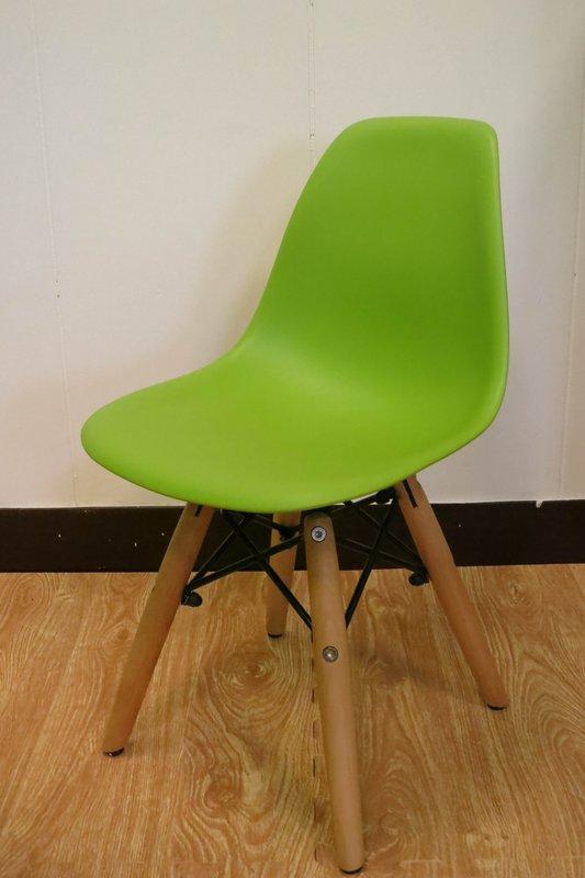 【新生活家具】 綠色 北歐風 實木腳 餐椅 兒童椅 伊姆斯 DSW Eames 歐瑞 非 H&D ikea 宜家