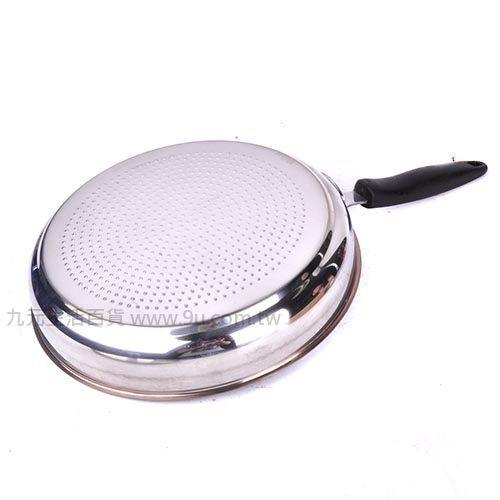 【九元生活百貨】御膳坊30cm蜂巢不鏽鋼陶瓷平底鍋 陶瓷鍋 不沾鍋