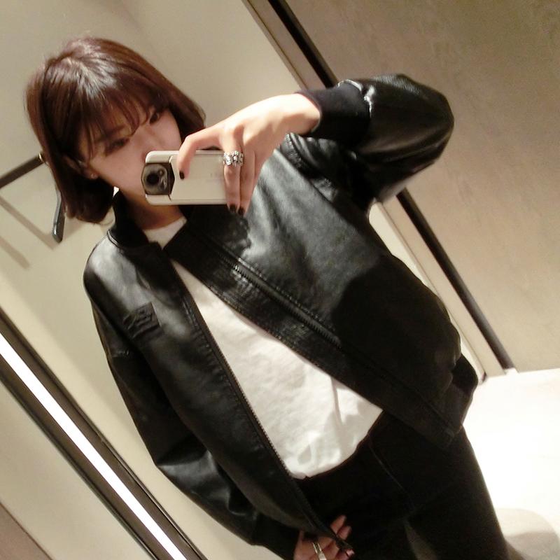 PS Mall 復古BF風皮衣寬鬆PU皮機車外套休閒夾克外套【T2965】