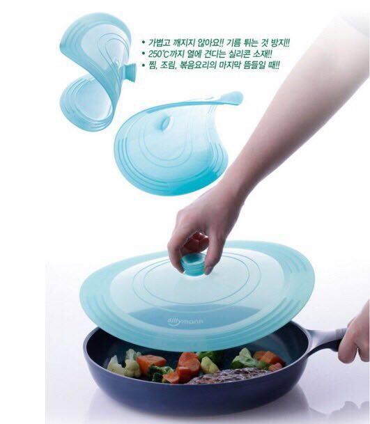 韓國sillymann矽膠廚具 (矽膠鍋蓋 30cm)- 粉色