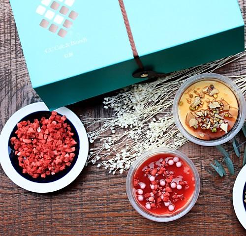 【CU獨家限定】草莓+黑糖起士蛋糕4入組 (1.5吋) | 綜合禮盒組 手工杯子起士蛋糕 下午茶甜點