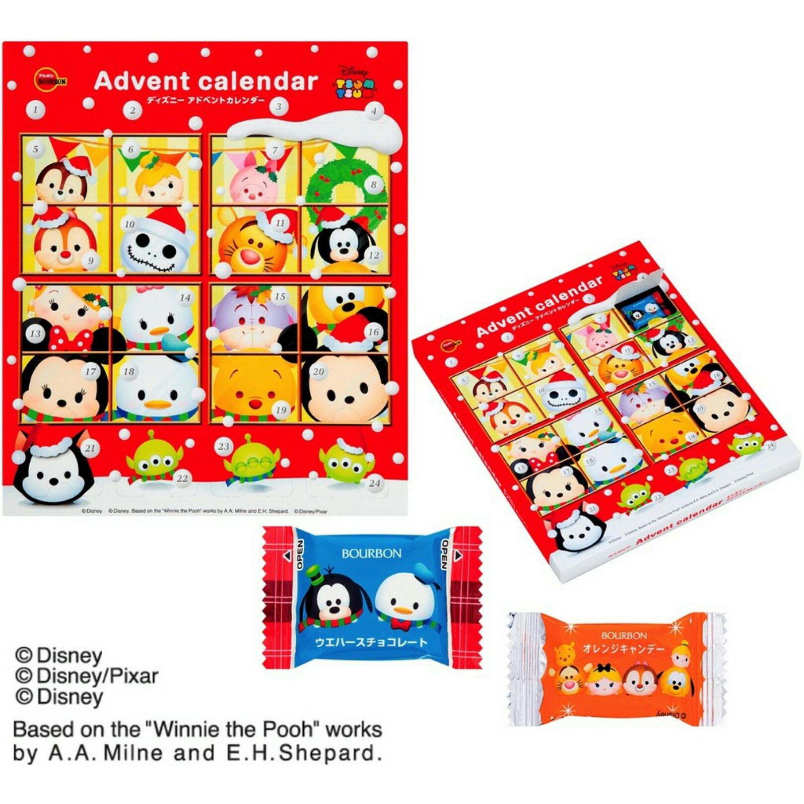 有樂町進口食品 日本進口 聖誕節限定 迪士尼24格戳戳樂160g J345 4901360321865