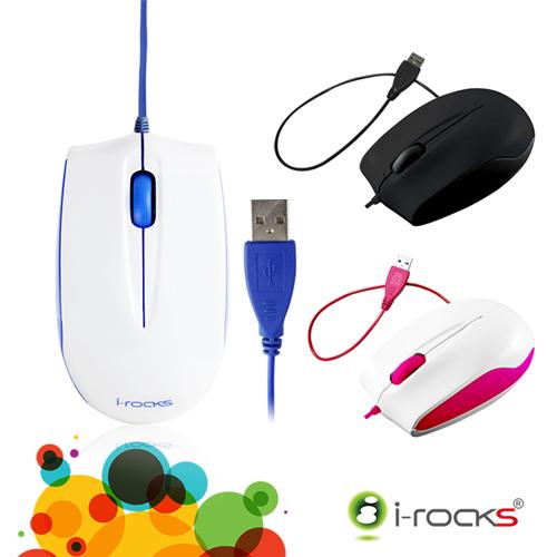 [福利品] i-Rocks S320 藍光有線滑鼠_羅技比較
