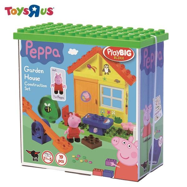 玩具反斗城 PEPPA PIG 粉紅豬小妹積木系列花園房屋組