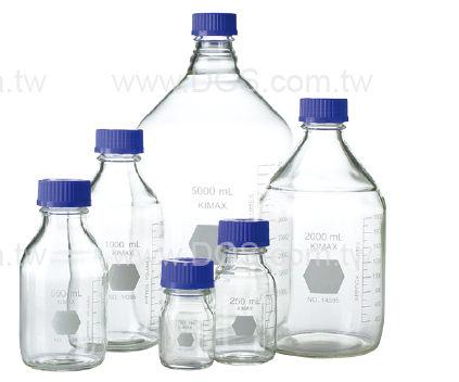 《KIMBLE & CHASE 》廣口血清試藥瓶 GL45 Bottle, Media, Screw Thread, GL45 PP Cap, KIMAX