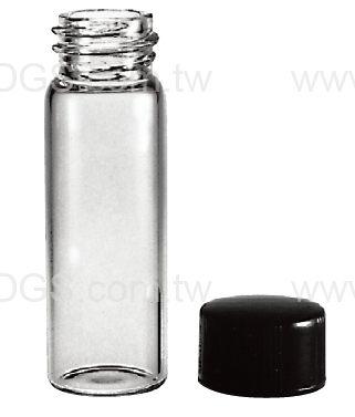 螺蓋取樣瓶 經濟型 黑蓋橡膠墊片 Vail, Sample, Screw Thread, Rubber Lined Closure