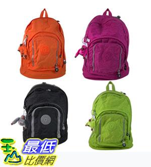 [COSCO代購 如果沒搶到鄭重道歉] Kipling 時尚後背包 Hal 系列(橘/淺紫/淺綠/黑) _W731236
