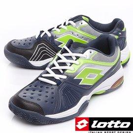 特價  LOTTO 義大利-專業網球TENNIS系列 - 男網球鞋 VECTOR VI LTR0098 深藍