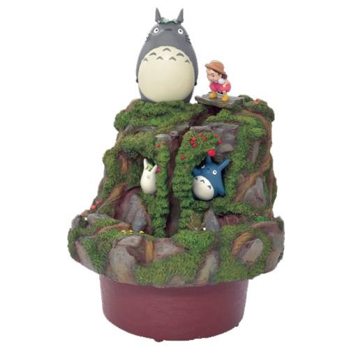 【真愛日本】新一代- 龍貓流水擺飾  龍貓 TOTORO 豆豆龍 造景風水噴泉 流水聚寶盆    擺飾  收藏