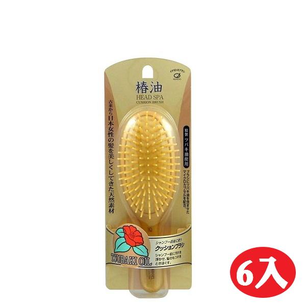 【晨光】日本製池本IKEMOTO 椿油山茶油美髮護髮梳-6入(000559)【預購】