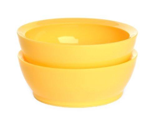 兒童餐具-Baby Joy World-【美國 Calibowl】專利防漏防滑幼兒學習吸盤碗 12oz 2入組-黃色