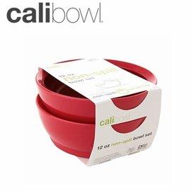 兒童餐具-Baby Joy World-【美國 Calibowl】專利防漏防滑幼兒學習吸盤碗 12oz 2入裝-紅色
