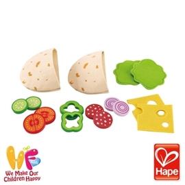 Baby Joy World-德國Hape educo愛傑卡【角色扮演廚房系列】-美味Pita袋餅