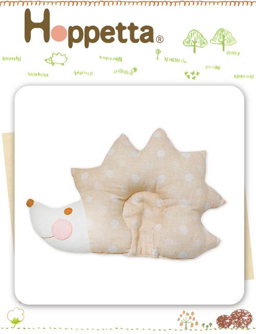嬰幼兒睡枕-Baby Joy Worl-日本Hoppetta 刺蝟凹型枕 (米白)#733815