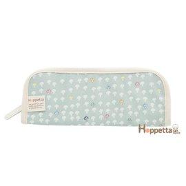 餐具收納袋-Baby Joy World-【日本Hoppetta】蘑菇餐具袋(水藍) #689815