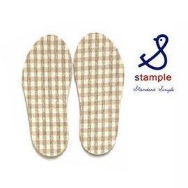 【日本stample】兒童雨鞋專屬鞋墊-卡其色