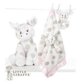 玩偶枕頭安撫巾-Baby Joy World-【美國Little Giraffe】〈Little G系列〉長頸鹿嬰兒安撫娃娃彌月禮套組-粉紅(LXDPRBPK)