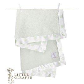 嬰兒毯-Baby Joy World-【美國Little Giraffe】雪尼爾點點系列嬰兒毯嬰兒被-灰綠色(NDCBKTCE)