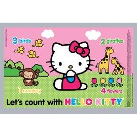拋棄式桌墊餐墊-Baby Joy World-美國 Neat Solutions Table Topper拋棄式餐墊 桌墊-Hello Kitty (18入)