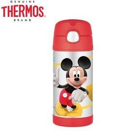 Baby Joy World-【美國 THERMOS 膳魔師】不銹鋼真空保溫瓶 軟式吸管式彈跳蓋 兒童學習水杯水壺-Mickey 米奇
